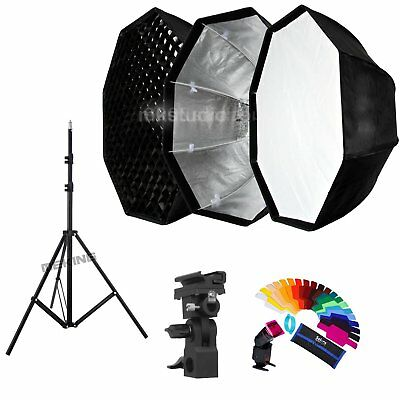 31''  Umbrella Octagon honeycomb Softbox and Light Stand kit for Flash Speedlite