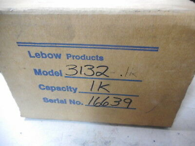 LEBOW PRODUCTS -- TENSION COMPRESSION PANCAKE LOAD CELL -- 1000lbs 3132-1K