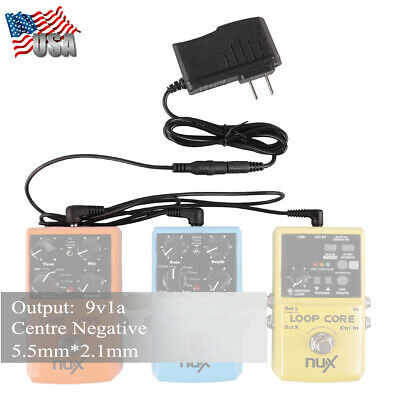 US 9V DC 2A Guitar Effect Pedal Power Supply Adapter 8 way Daisy Chain Cable sea
