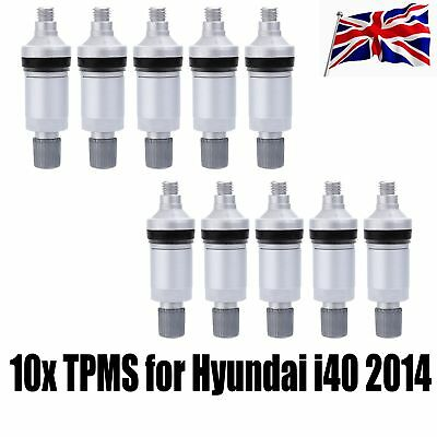 10pcs OE Replacement TPMS Tyre Pressure Monitor Valve Stems for Hyundai i40 2014