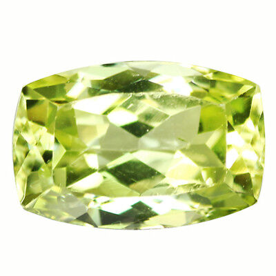 4.73Ct IF Grand look Cushion Cut 12 x 8 mm AAA Yellow Green Sillimanite