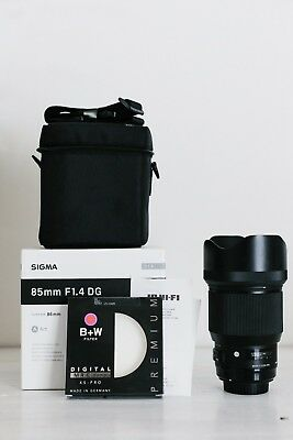 Sigma Art 85mm f/1.4 DG HSM Canon Mount with B W lens filter, box
