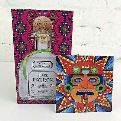 Patron Silver Tequila Limited Edition Collector Tin box Vibrant Colors