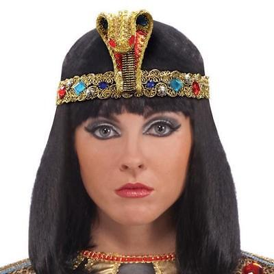 Cleopatra/ Egyptian Queen Headband/headdress With Snake & Jewels On Gold Braid