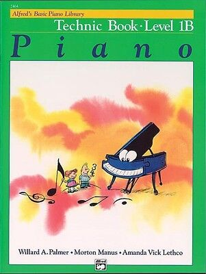Alfred's Basic Piano Library Technic Book Level 1B *NEW*