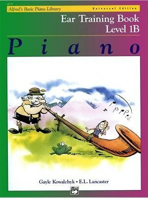 Alfred's Basic Piano Library Course: Ear Training Book Level 1B *NEW*