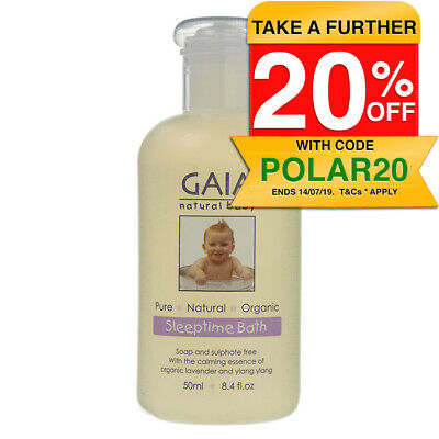 Gaia 50ml Pure/Organic Sleeptime Bath for Baby/Kids/Toddlers Vegan Friendly