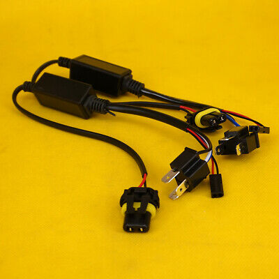2Pcs H4 Relay Wiring Harness Socket Plug Wire for Hi/Lo HID Bi-Xenon Controller