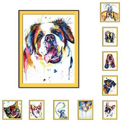 Abstract Framed Oil Painting By Numbers Colorful Animals Painting Home Decor