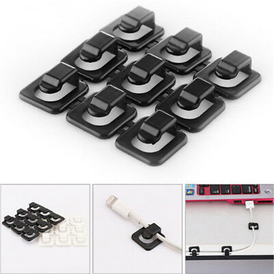 18PCS Cable Clips Self-Adhesive Cord Management Wire Holder Organizer Clamp Hot