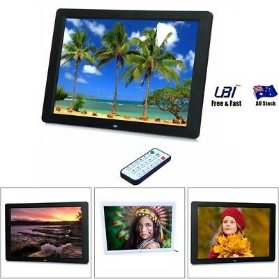 New HD 15'' LCD RC Digital Photo Frame Picture Photography MP4 MP3 Player Black