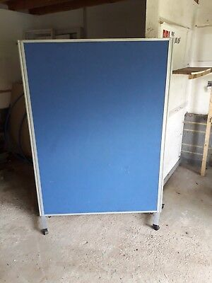 office partition/  room divider screeen noticeboard on wheels