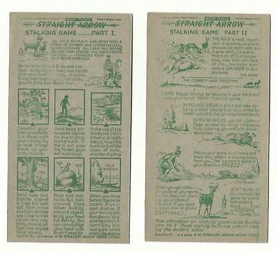 1951 Cereal Premium National Biscuit Co Straight Arrow Stalking Game Card Indian