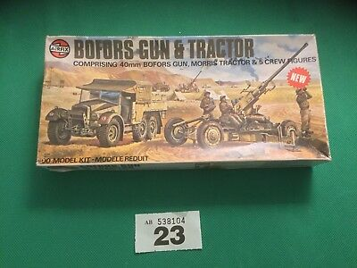 AIRFIX OO SCALE MODEL KIT Bofors Gun And Tractor Unit Lot 23