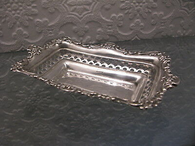 A Victorian solid silver dish hallmarked Chester 1889 maker J.J