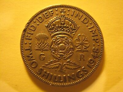 1948 British UK TWO-SHILLING a VERY NICE COIN