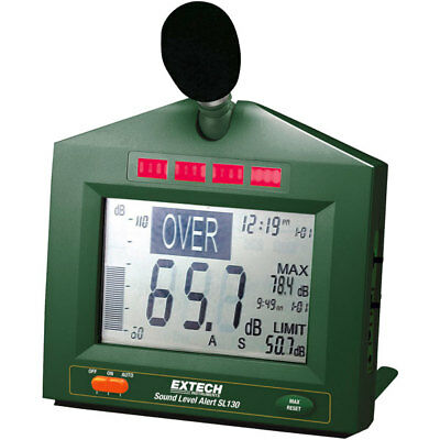 Extech SL130 Sound Level Monitor with Display and Alarm 31.5-8000 Hz