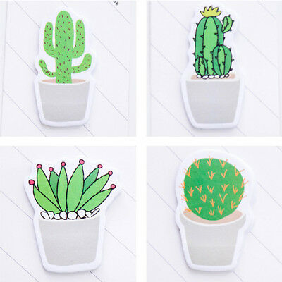 30pages/pack Fresh Cactus Sticker Post Sticky Notes Pads Cute Bookmark Memo