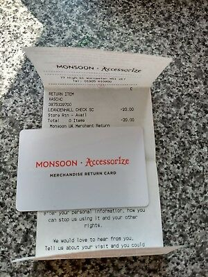 Monsoon Accessorize £20 Gift  Card