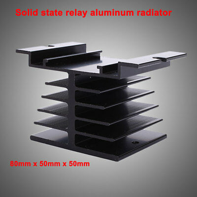 Aluminum Alloy Heat Sink 80 x 50 x 50mm Mountable Small For Solid State Relay