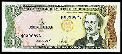 DOMINIKANISCHE REPUBLIK. DOMINICAN REPUBLIC. 1 Peso Oro 1988. P. 126c. UNC.