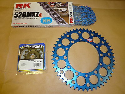 RK Blue Chain And Renthal Sprocket Kit YZ YZF WRF WR 125/250/400/426/450 Enduro