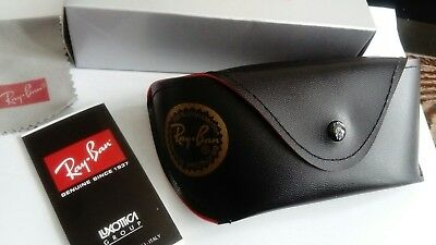 Ray Ban Black Sunglasses Case Cloth & Box Included