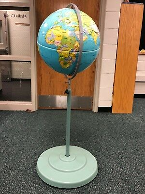 "Globe + adjustable stand. Good condition.  Circumference 18""."