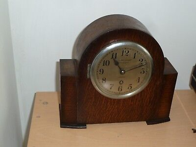 Bravingtons Renown London single train mantel clock for spares