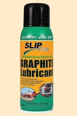 SLIP PLATE GRAPHITE LUBRICANT Spray-on Aerosol Coating Heavy Duty Dry Film Lube