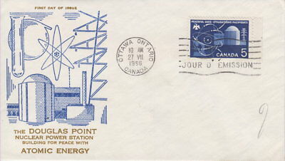 Canada #449 5¢ Atomic Research First Day Cover