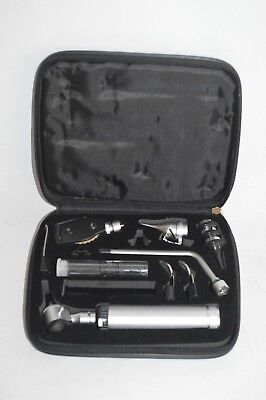 ADC 2.5V PORTABLE OTOSCOPE OPTHALMOSCOPE COMPLETE DIAGNOSTIC SET with CASE