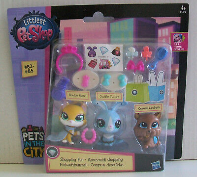 LITTLEST PET SHOP Pets In The City Shopping Fun FIGURES # 83 - #85 + Accessories