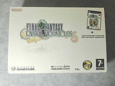 Final Fantasy Crystal Chronicles Bundle Cavo Gba Nintendo Gamecube Wii Italiano