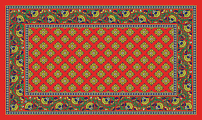 Toland French Paisley Red 18 x 30 Decorative Colorful Floor Mat Doormat