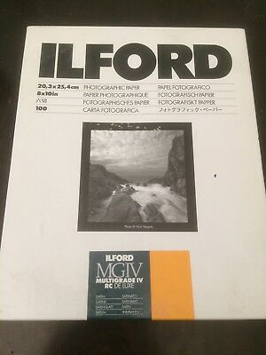 Iford Photographic paper 8x10in, 100 sheets, multigrade RC DE LUXE, SATIN