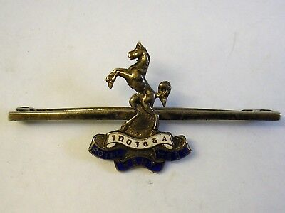 WW1 Royal West Kent Regiment Silver Enamel Sweetheart Pin Brooch