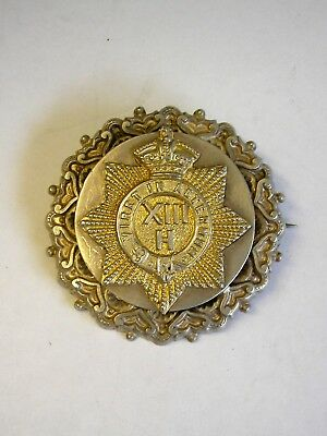 Regimental Silver Military Sweetheart Badge Boer War Hussars Light Dragoons 1902