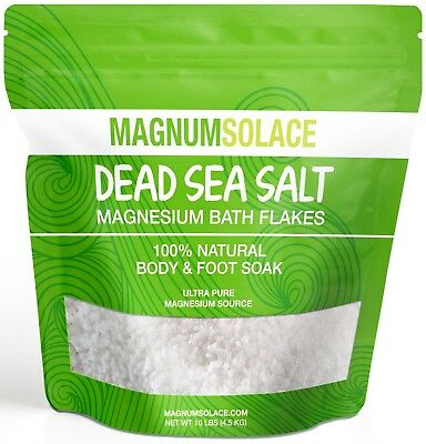 Large 10 LBS Magnesium Bath Flakes from the Dead Sea - Use in Body or Foot Soaks