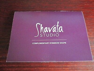 Shavata Studio Complimentary Eyebrow Shape Gift Card Voucher + 10% off products