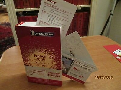 guide michelin 2009 complet avec son bandeau