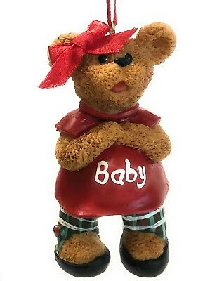 Mom to be We're Expecting Mother Mama Bear Christmas Ornaments Pregnant New Mom
