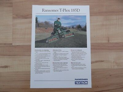Ransomes T-Plex 185D sales brochure with dealer stamp - see photos