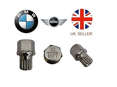 Mini, BMW Locking Wheel Nut Key ABC 32 Type 16 Splines