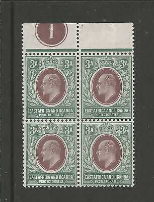 KUT KEVII 1903 3a BROWN-PURPLE & GREEN Plt.BLOCK OF 4 SG;5 MNH Cat.£100