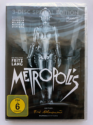Metropolis - 3 Disc Special Edition DVD - OOP German Language - BrandNew&Sealed!