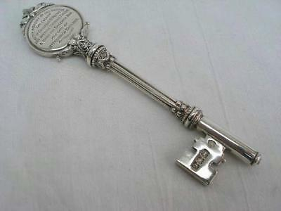 Fine Hallmarked Solid Sterling Silver Presentation Key Duchess of Marlborough.
