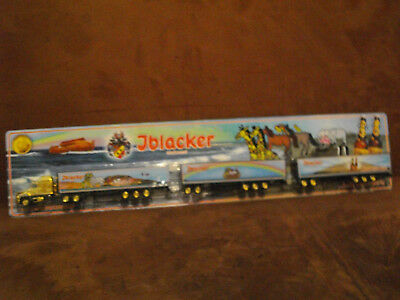 Iblacker Bier US Road Train HZ in 1:87vergoldet ZM 16 Achsen 2 Hänger 56 cm lang