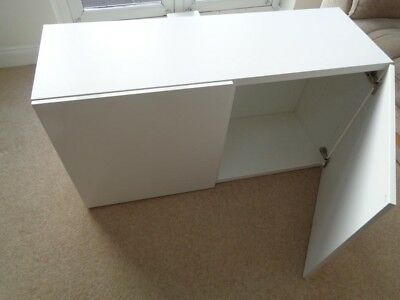 Superieur Ikea Besta Shelf Unit With Doors High Gloss White