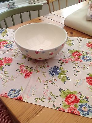 Gorgeous Large Laura Ashley Polka Dot/Strawberry Serving Bowl.Fruit Bowl.